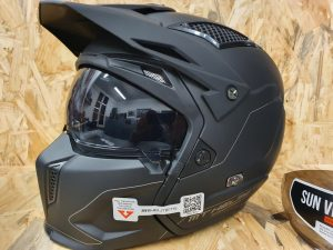 Casque transformable mt remets streetfighter noir mat tl